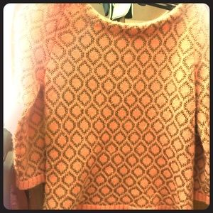 Dolce Vita coral/gold sweater